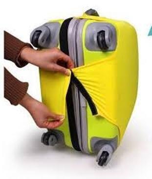 funda valija 28 tamaño grande 4 colores lisas travel 62 x 83