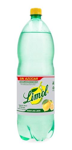 funda x 6 refresco limol 2lt sabor lima limón light
