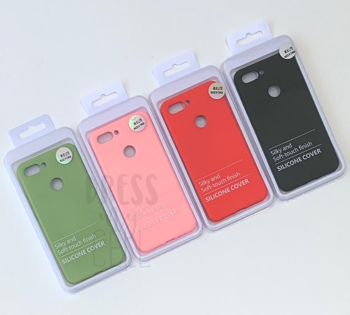 on sale a3e68 c2880 Funda Xiaomi Mi 8 Lite Silicone Case + Vidrio Templado .