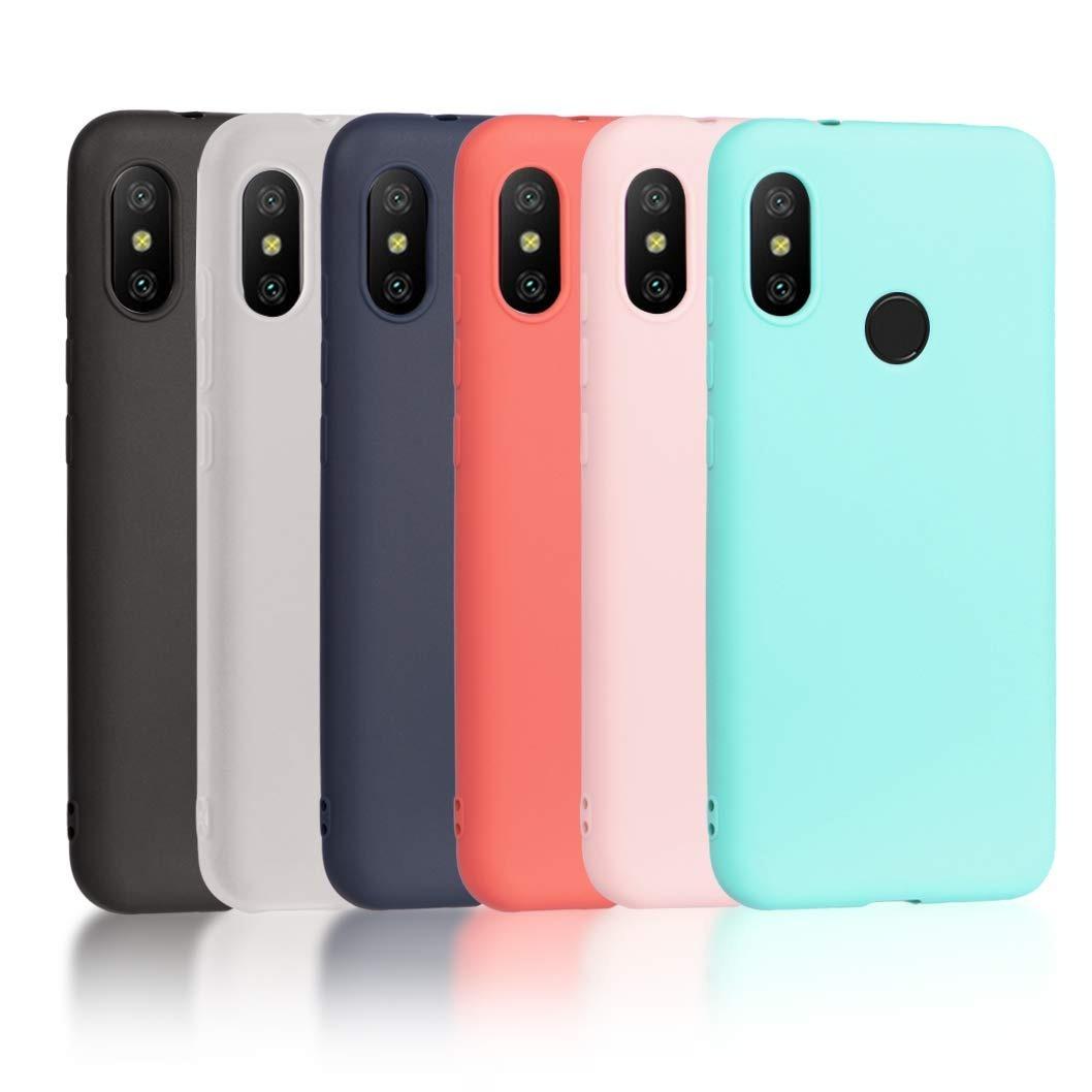 lowest price 36ce9 3e18c Funda Xiaomi Mi A2 Silicone Case + Vidrio Templado