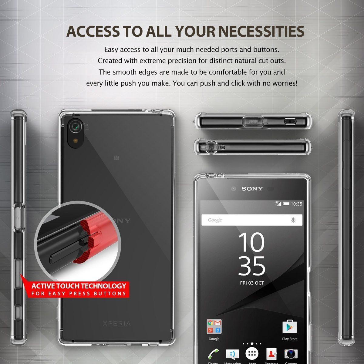 73b5e0e29b8 Funda Z5 Premium Ringke Sony Xperia Fusion Case Film - $ 499,00 en ...