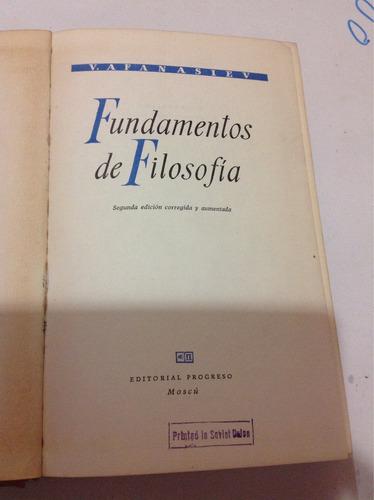 fundamentos de filosofía-v. afanasiev