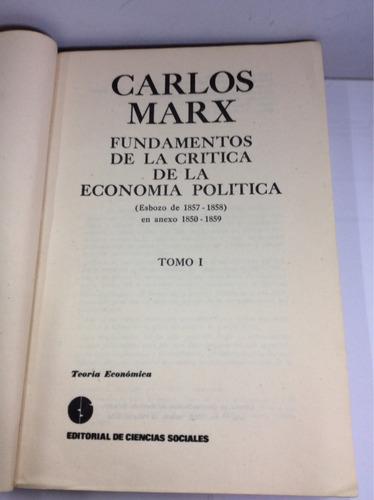 fundamentos de la economía política, carlos marx