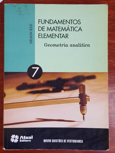 fundamentos de matemática elementar, volume 7, 9° edição.