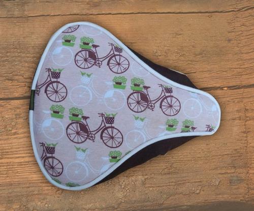 fundas asiento bicicleta de aguayo y gran variedad de telas.