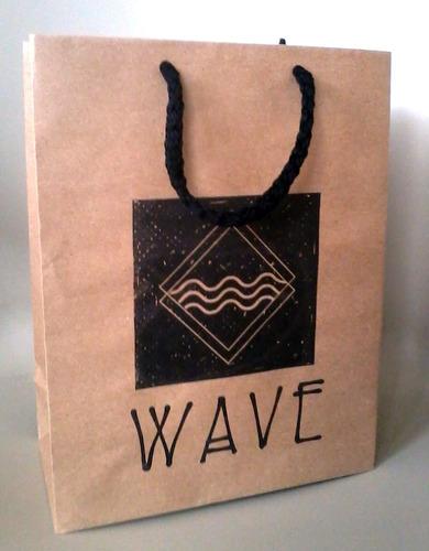 fundas bolsas ecológicas papel kraft estampadas logo mensaje