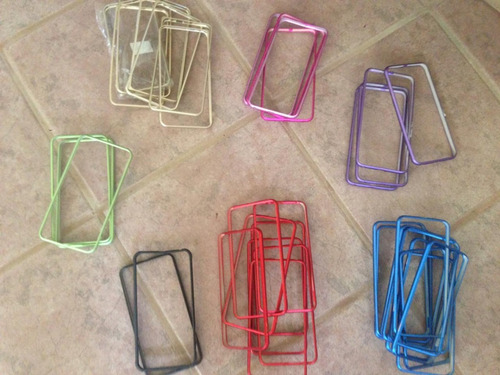 fundas bumpers iphone 6 6s plus protectores aluminio colores