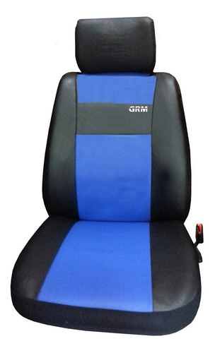 fundas cubre asiento + cubre alfombras x4 cubre volante azul
