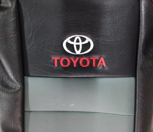 fundas cubre asiento toyota hilux d/c cuerina autom gris