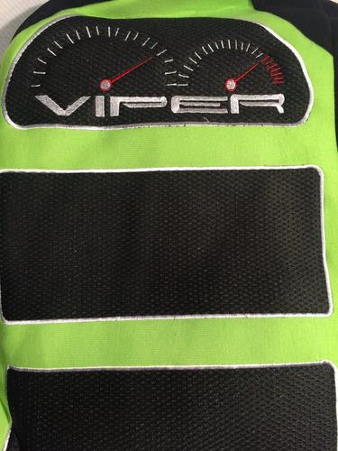 fundas cubre asientos negro+ verde tela deportivo .x14 pz m3