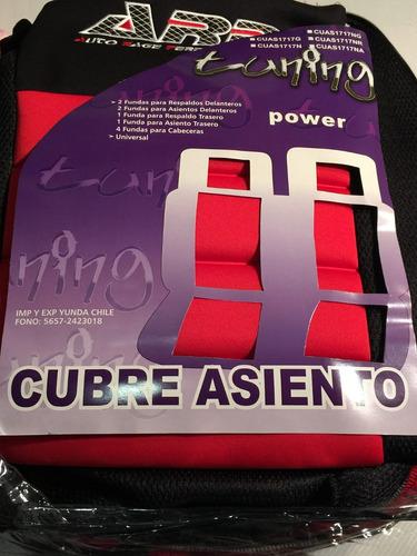 fundas cubre asientos super deportivo rojo & negro .x14 pz