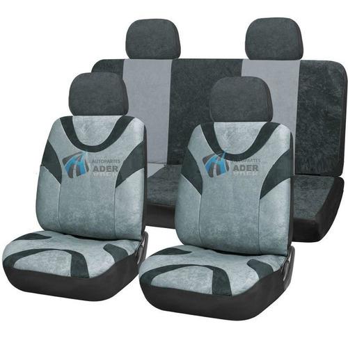 fundas cubre asientosauto acolchonadas reforzada gris negro