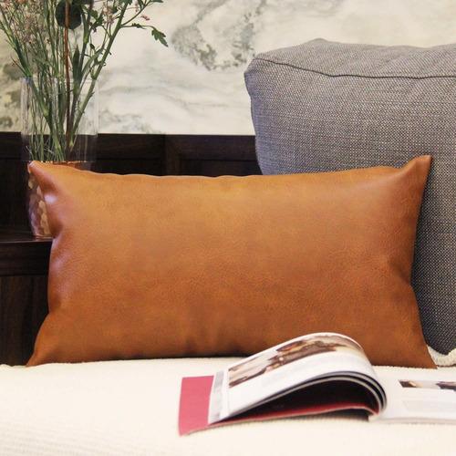fundas de almohada de cuero modernas para sofá cama de...