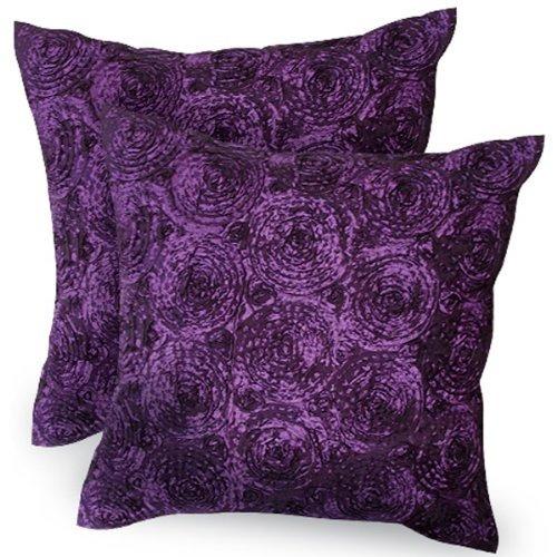 fundas de almohada,una pair.bouquet de rosas púrpuras th..