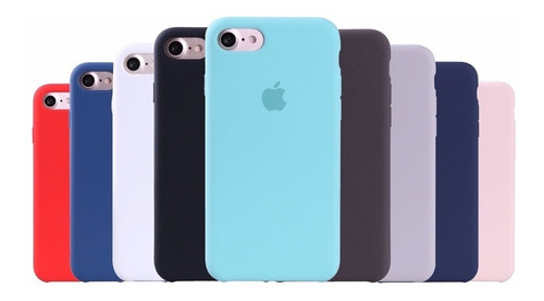 fundas de silicon celulares case apple iphone 7 y 8 colores /e