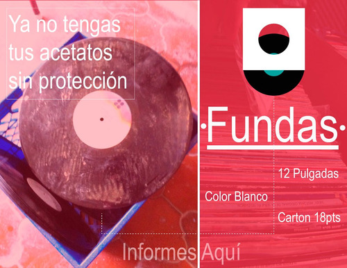 fundas discos de vinyl, lp´s, acetatos carton