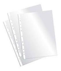 fundas (folios) paq. x 100 en 50 micras gruesas  formato a4