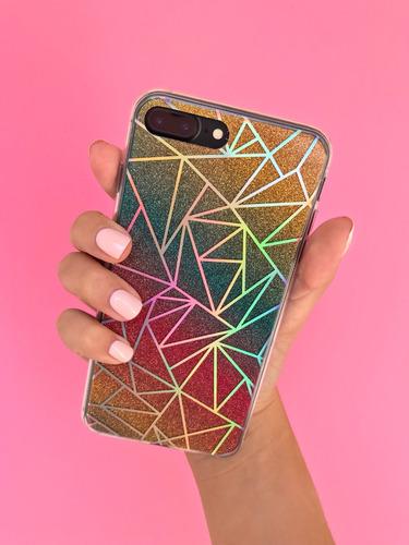 fundas glitter tornasolado iphone 6 6s 7 8 plus multicolores