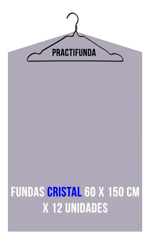 fundas largas ropa bolsas polietileno cristal 60x150cm x 12u