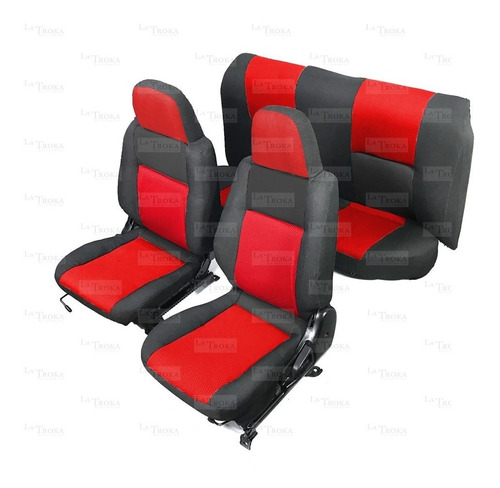 fundas para asientos tsuru iii color negro c/ rojo mlx
