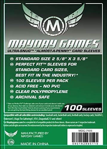 fundas para cartas - mayday card sleeves 2 5/8 x 3 5/8