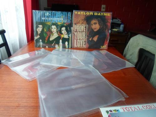 fundas para  discos vinilo 12 pulgadas (50  x $5.500)