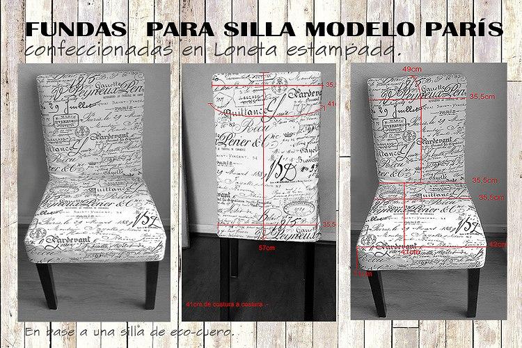 Fundas Para Silla Motivo París Confeccionadas A Medida. - $ 13.900 ...