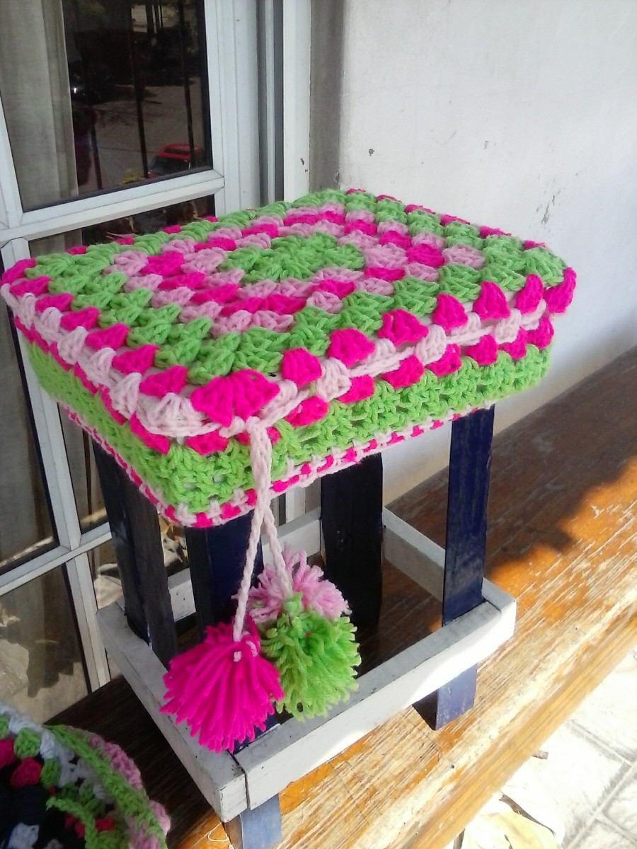 Fundas Para Sillas Bancos Banquetas Almohadones Crochet