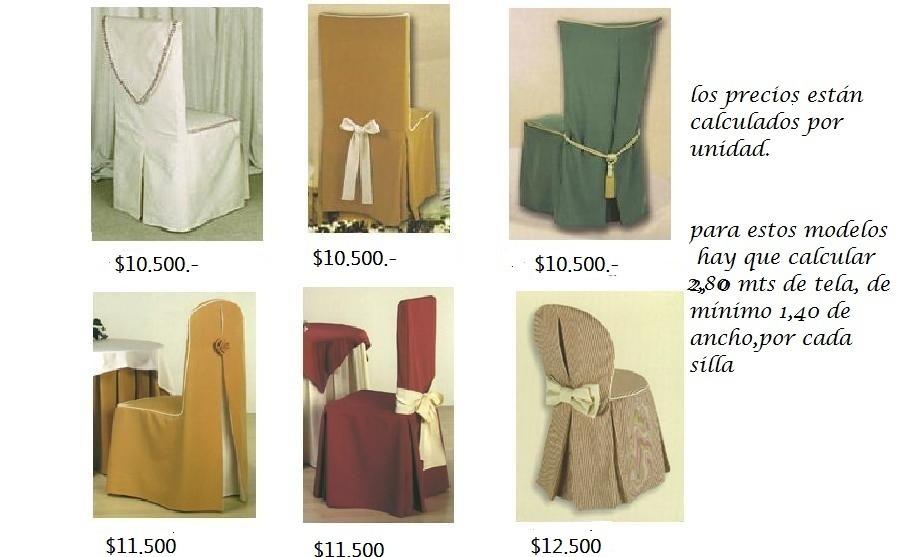 Fundas Para Sillas De Comedor O Terraza Solo A Medida - $ 9.500 en ...