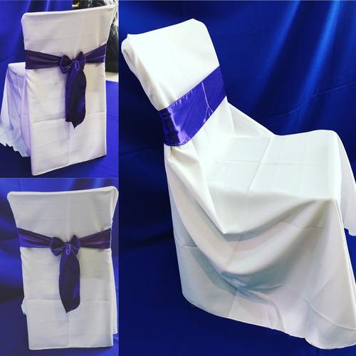 fundas para sillas universal + lazo + servilleta . oferton