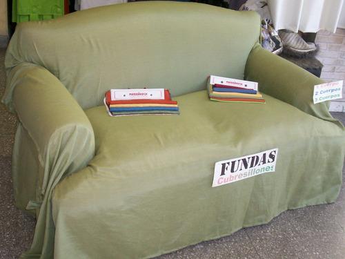 fundas para sillones 2 cuerpos standard tela rustica madras