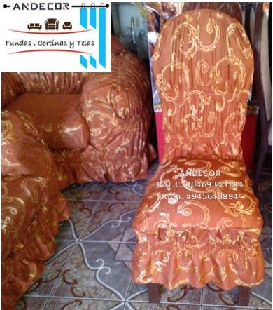 fundas para sillones , sillas y cortinas visitas a domicilio