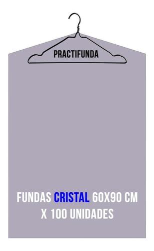 fundas polietileno cristal trajes camisas 60x90cm x 100 u.