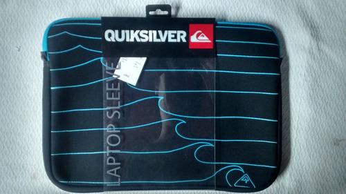 fundas quiksilver 100 % originales 13.3 a 15 laptop, macbook