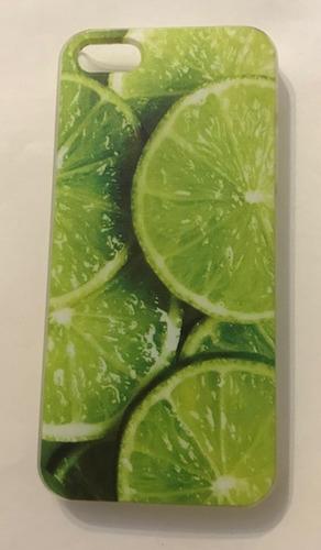 fundas rígidas iphone 5 5s se + vidrio diseños varios!!!