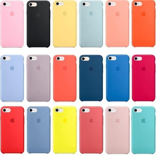 fundas silicone iphone simil original (más de 15 colores)