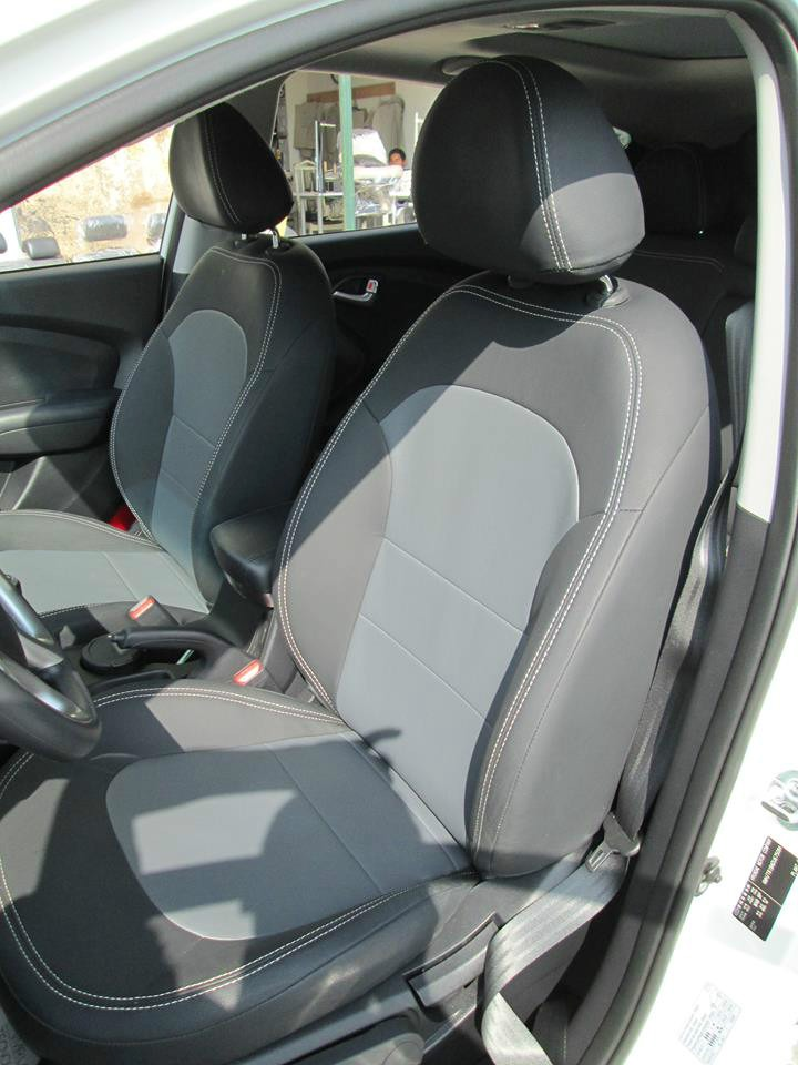 Fundas tacto cuero a medida tucson rav4 hilux sportage s 450 00 en mercado libre - Fundas para asientos de coches ...