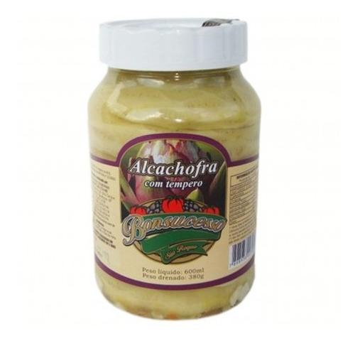 fundo de alcachofra em conserva temperado 600ml - bonsucesso