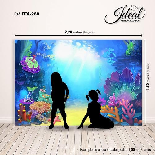 fundo fotográfico em tecido fundo do mar 2,2x1,5m - ffa-268