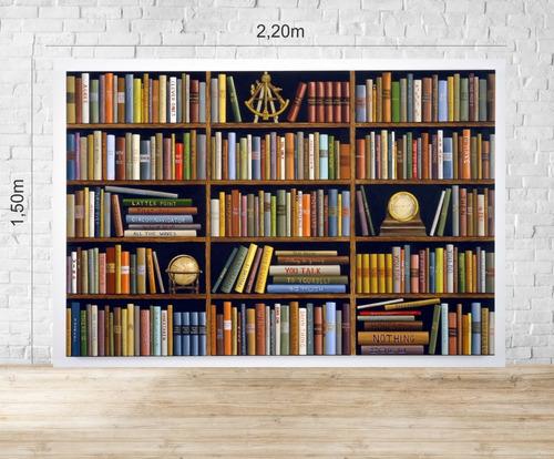 fundo fotográfico em tecido newborn biblioteca 1,50 x 2,20m