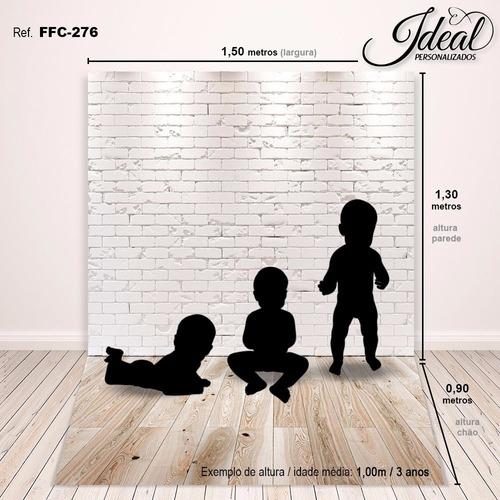 fundo fotografico madeira tijolos newborn 1,5x2,2m - ffc-276