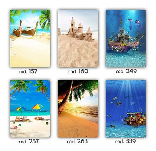 fundo fotográfico mar e praia - verão - tam. 1,40x2,00m