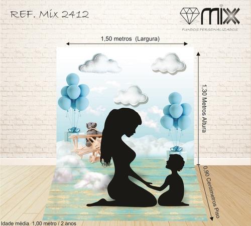 fundo fotográfico newborn em tecido aviador 1,50x2,20