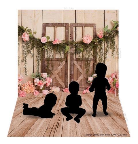 fundo fotográfico newborn porta florida 2,2x1,5m - fdm-10