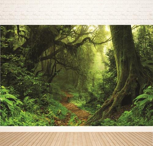 fundo fotográfico tecido caminho da floresta  2,80x2,00