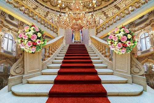 fundo fotográfico tecido escadaria com buques 3,00m x 1,70m