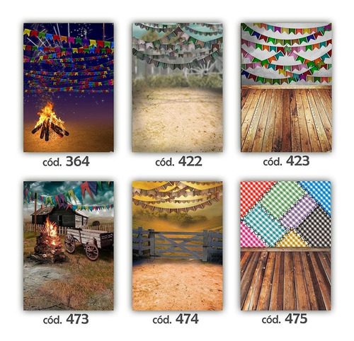 fundo fotográfico temático de festa junina - tam. 2,20x4,50m