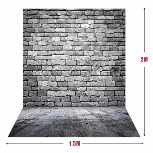 fundo infinito tijolo ensaio fotografico newborn 1.5x 2.1m