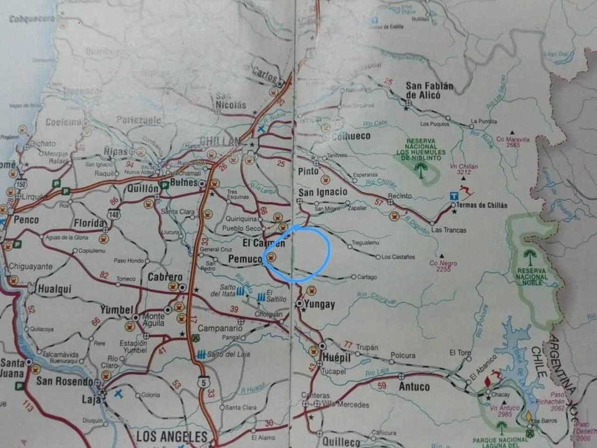 fundo san vicente, ubicado a 70 kms al s