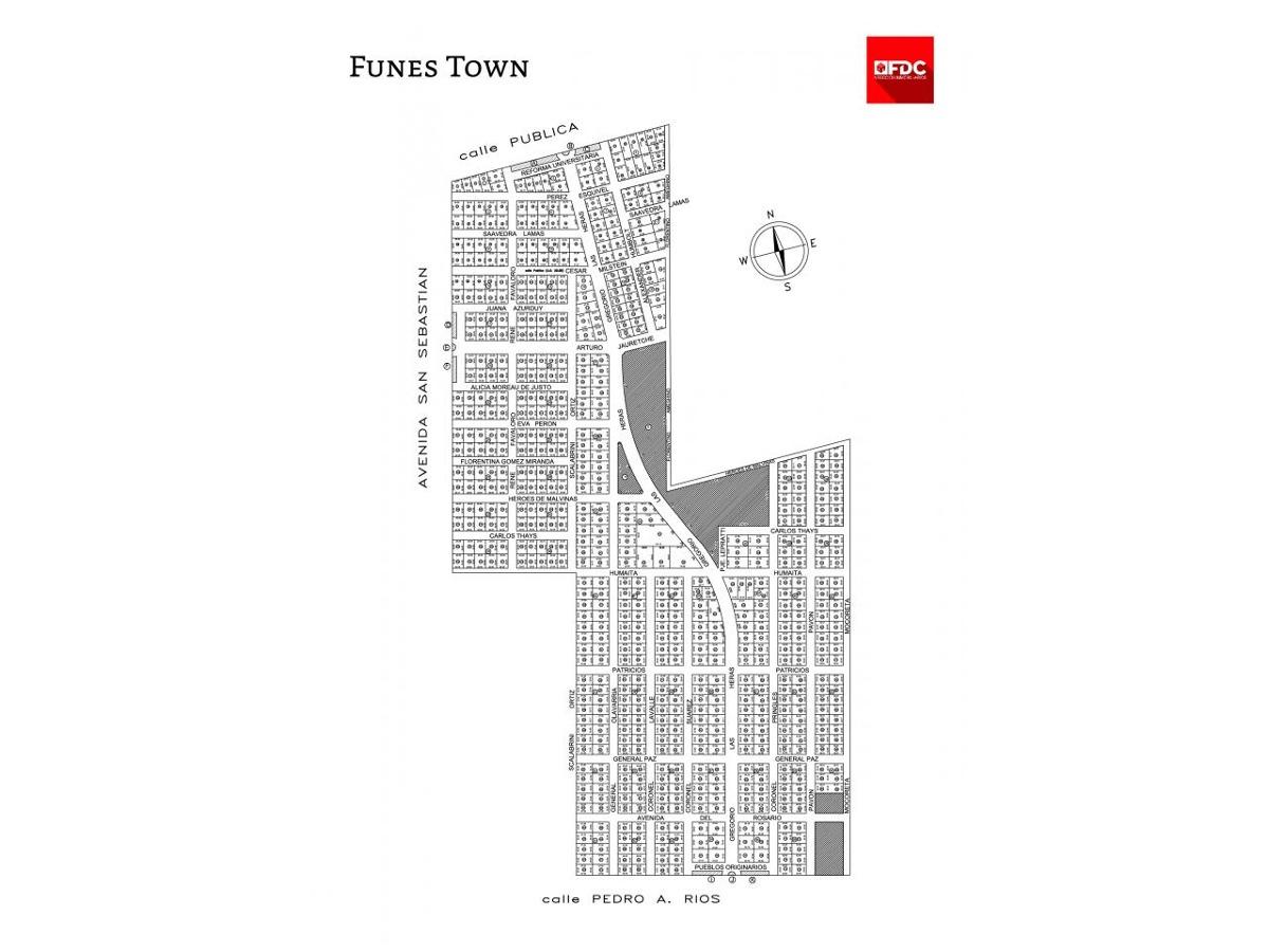 funes town lote 484 de 800 m2 escriturado